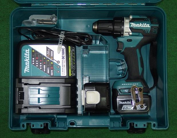 マキタ DF474DRGX 14.4V-6.0Ah 防塵防滴ブラシレスドライバドリル 青 新品