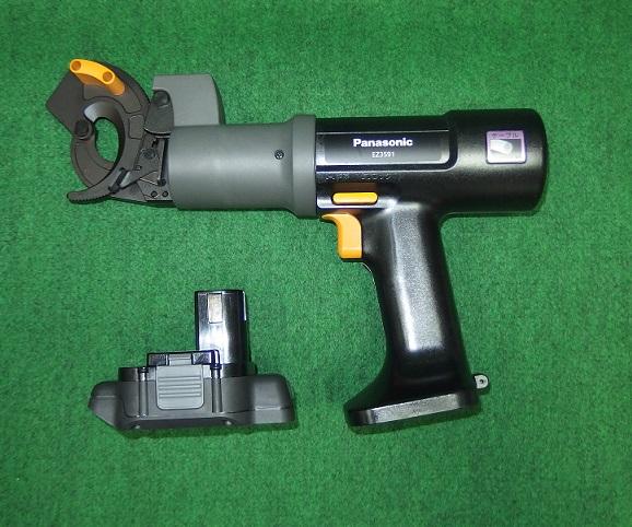 パナソニック EZ3591X 12V充電式ケーブルカッター+電池アダプタ:EZ9740 14.4V対応セット 新品