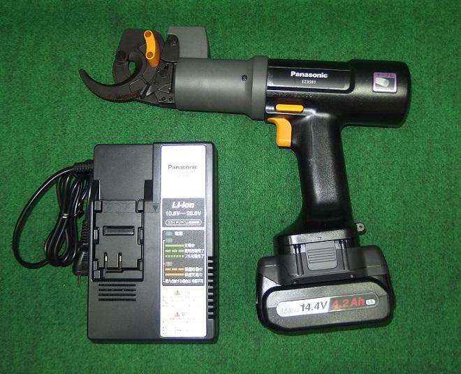 パナソニック EZ3591X 12V充電式ケーブルカッター +電池アダプタ:EZ9740+14.4V電池パック:EZ9L45+充電器 セット 新品