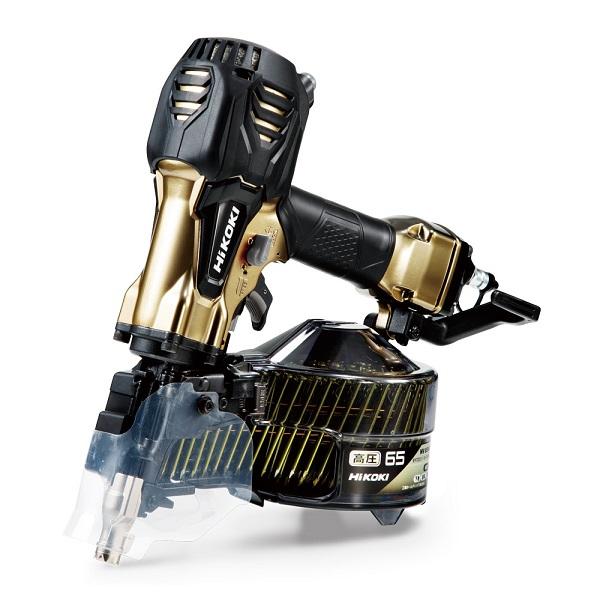 HiKOKI NV65HR2(S) 65mm高圧ロール釘打機 品確法・2x4対応 パワ-切替機構搭載 エアダスタ付 新品 NV65HR S 日立 ハイコ-キ