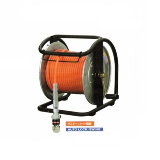 マッハ NHDALB-630C ダスタ付スイングカプラ+高圧用スムージホース付エアードラム φ6X30m オレンジ 新品 NHDALB630C フジマック