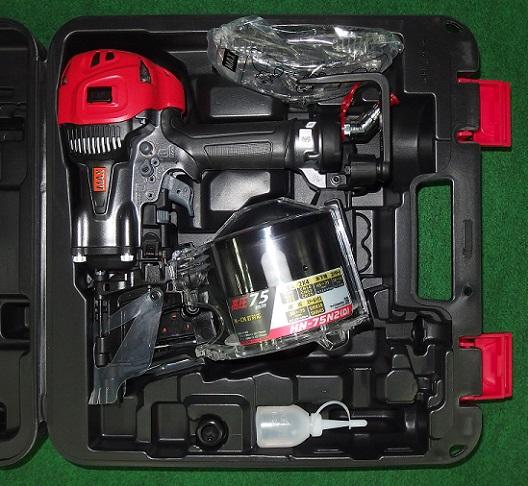 マックス HN-75N2(D)G 75mm高圧釘打機・エアロスタ- ク-ルグレー 新品 HN-72N2 D G