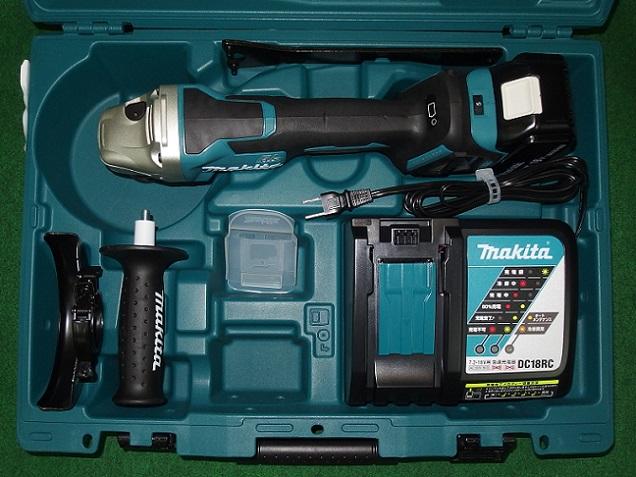 マキタ GA518DRG 18V-125mm無線連動対応ブレーキ付充電式ディスクグラインダ 6.0Ah 新品