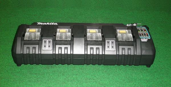マキタ DC18SF 14.4V-18Vスライド式バッテリ対応4口充電器 新品 2本同時充電可能
