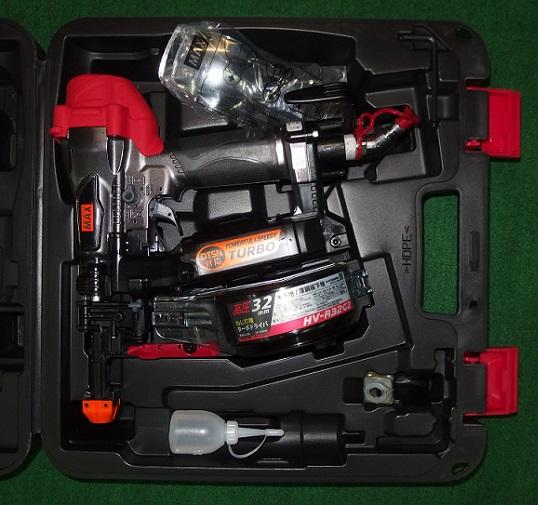 マックス HV-R32G2-G 32mm石膏ボード用高圧ねじ打機 タ-ボドライバ ク-ルグレー 新品