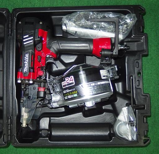 マキタ AN534H エアダスタ付50mm高圧エア釘打機 赤 新品
