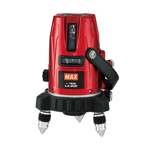マックス LA-505-DT レーザー墨出器 矩十字・タテ4本・ろく・地墨 受光器・エレベ-タ三脚付セット 新品 LA505 MAX