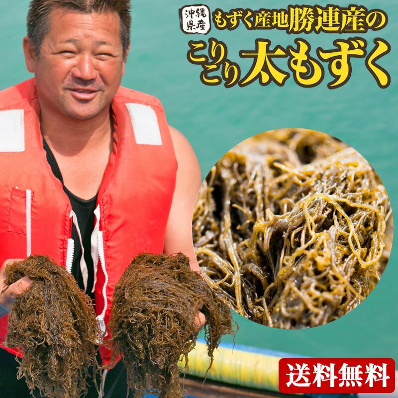 もずく 沖縄産 1kg【送料無料】有名ブランド★勝連産☆【塩もずく】レビューでちんすこう♪おまけ|もずく|