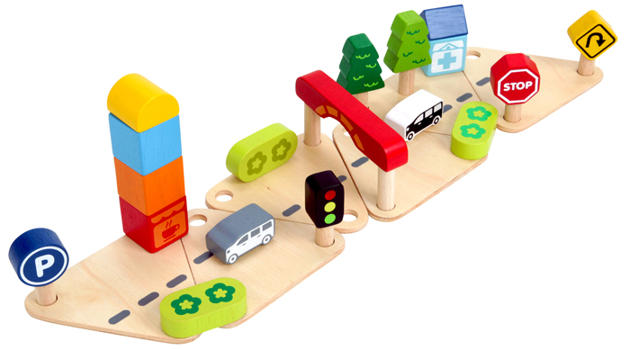 Educational Toys Age 2 : Edute: town & country play set educational toys wooden toys