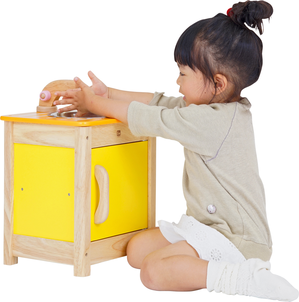 My Play Kitchen Sink Child Baby Playing House Set 1 Year Old Woodenness Toy Cognitive Education Infant Of The