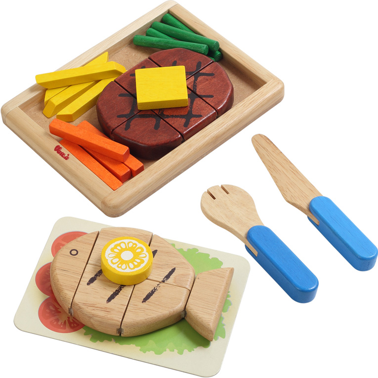 Main Dish House Set Wooden 3 Year Old Girls Boys Child Childrens Toy Utensils Kitchen Gifts Birthday Gift Toys Food Material Dessert