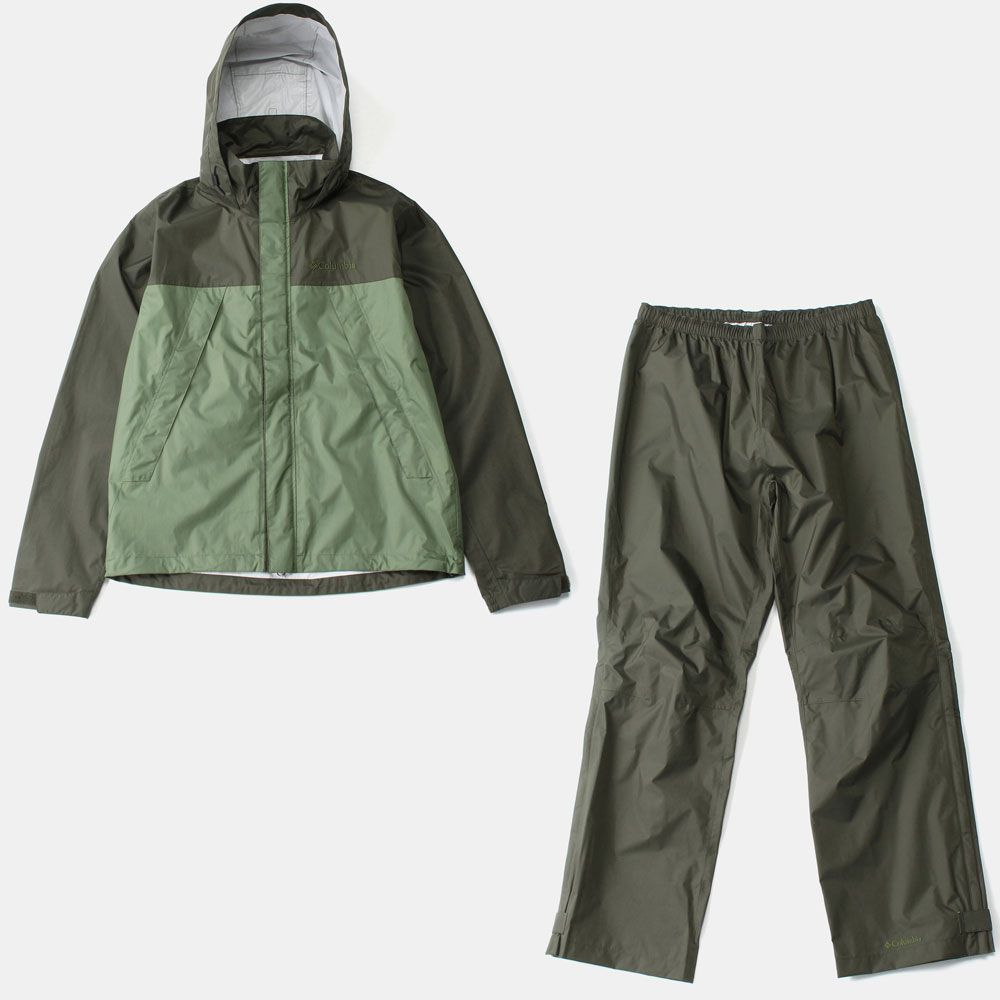 コロンビアSimpson Sanctuary Rainsuit 347/Surplus Green PM0124 メンズ