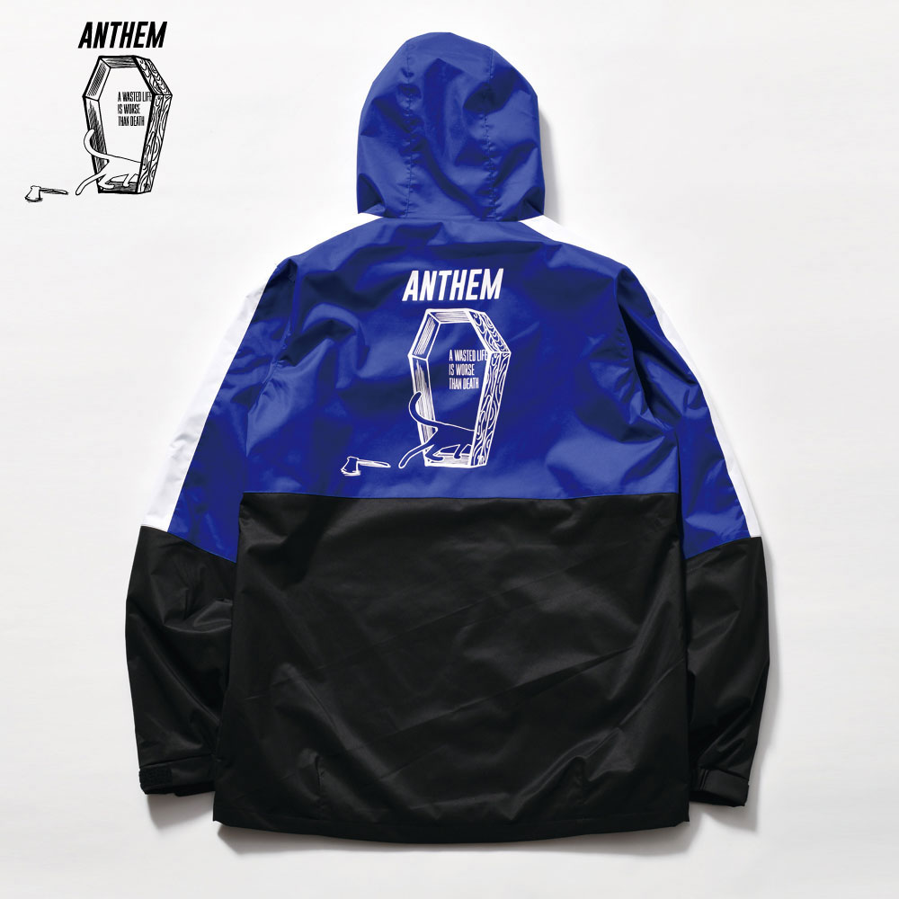 アンセム CAT IN THE COFFIN JKT AN1902 ROYAL BLUE×BLACK ユニセックス ANTHEM