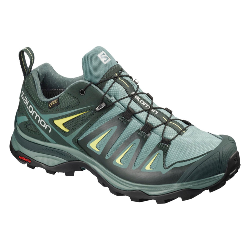 サロモン X ULTRA 3 WIDE GORE-TEX(R) L40661000 Artic/Darkest Spruce/Sunny Lime レディース SALOMON