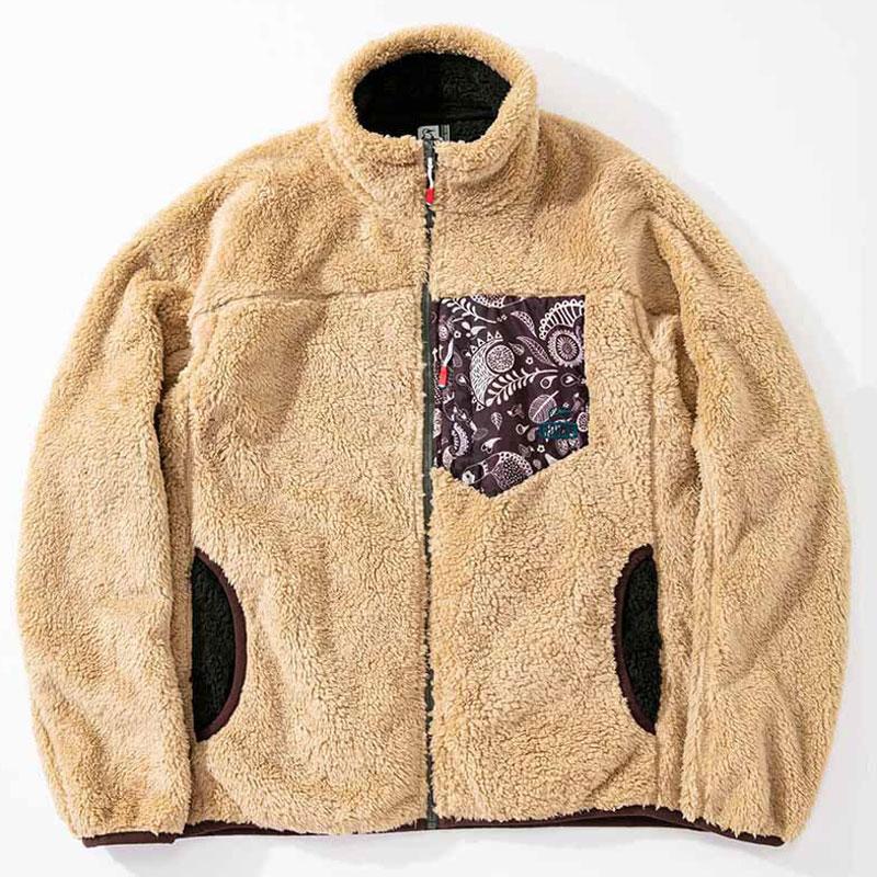 フリース Beige/Paisley ジャケット Jacket Fleece メンズ ボンディングフリースジャケット Bonding チャムス CH04-1242 CHUMS