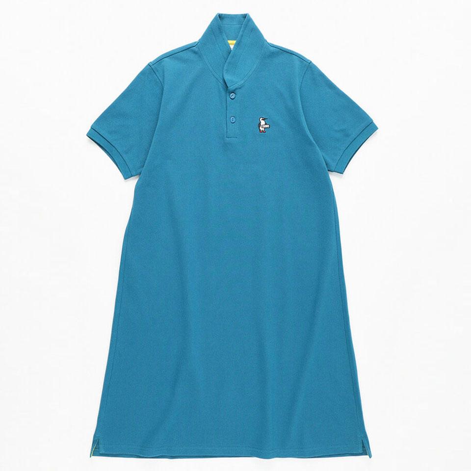 CHUMS チャムス シャツ Tシャツ ポロシャツ ワンピース スカート レディース CH18-1171 Teal 日本限定 ブービーショールポロドレス 正規販売店 Polo Dress Shawl Booby Dark