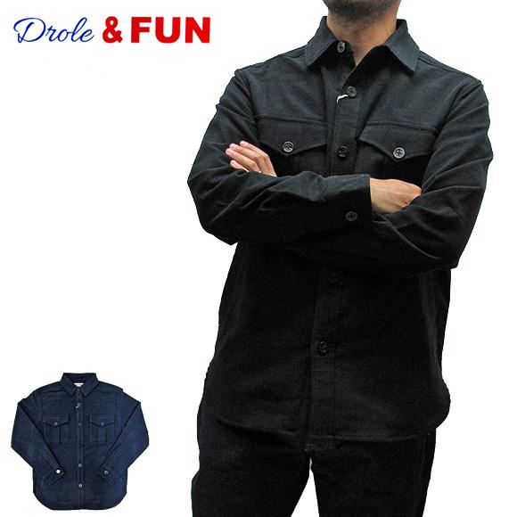 Drole&FUN ドロールアンドファン DF-J-001 スエードCPOシャツジャケット SUEDE CPO SHIRT JACKET メンズ レディース【メール便不可】02P05Apr14M