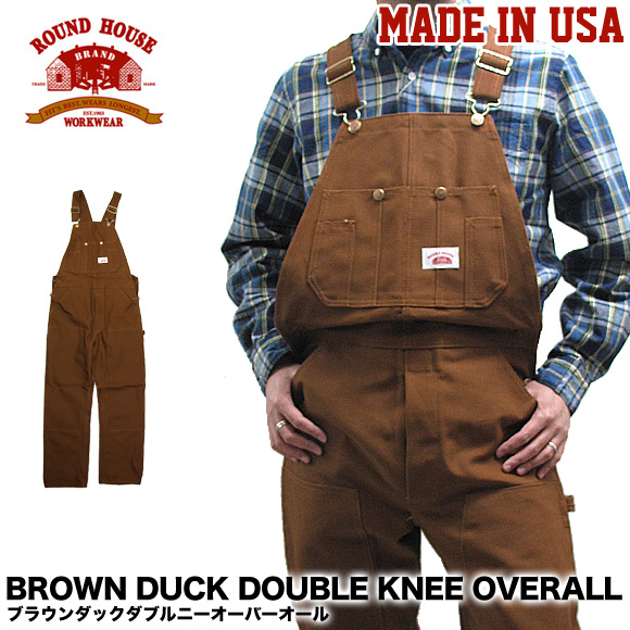 Roundhouse Made in USA Duck Brown Double Knee Carpenter Dungaree Jeans
