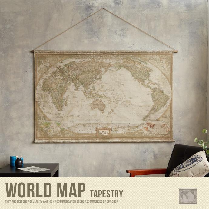 タペストリー 世界地図 地図 壁掛け アンティーク 美容院 おしゃれ かわいい レトロ カフェ ヴィンテージ