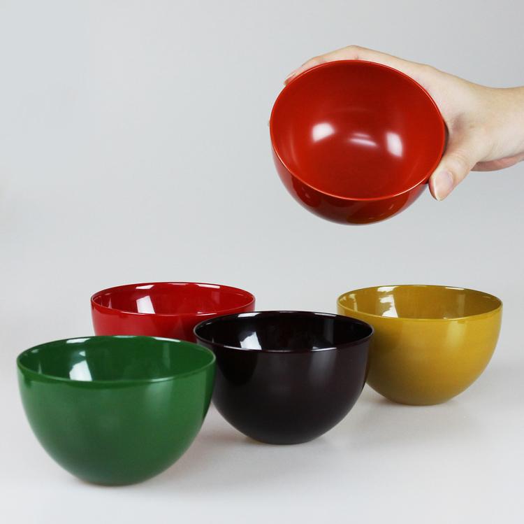 フリーカップ フリーボウル 木製 5色揃え うるし塗 漆塗り 山中漆器 小原文平(多用椀 丼 汁椀 盛皿)