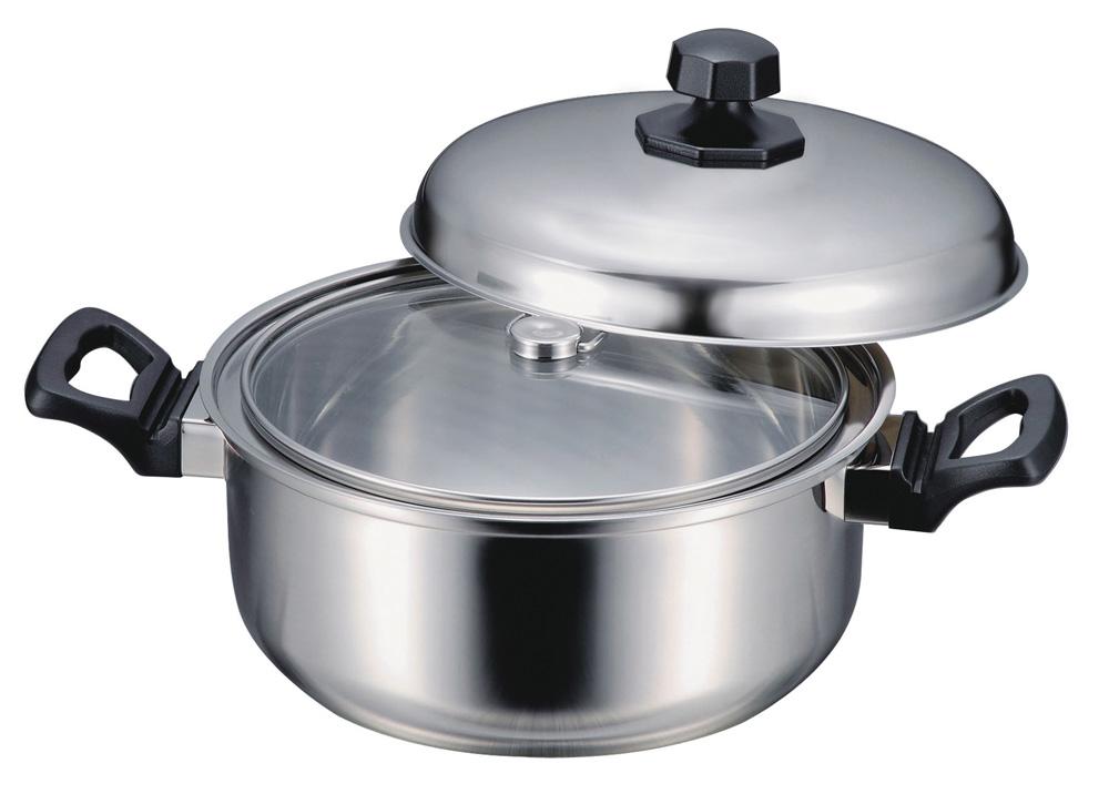 ほっとく鍋 Newstage 22cm(保温調理鍋) ガス&IH 003-0006