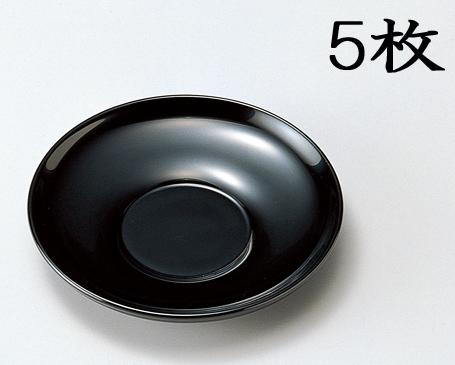 【送料無料】越前漆器 4 茶托 黒 5枚(木製、漆塗、うるし塗) 905601 807102