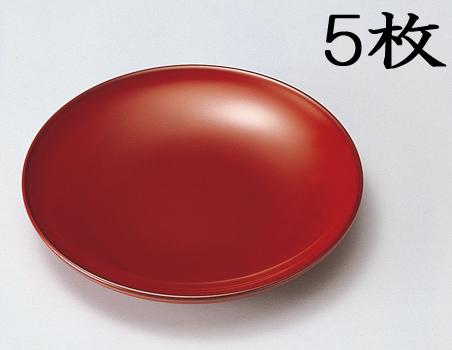 【送料無料】越前漆器 銘々皿 古代根来 黒 5枚(木製 うるし塗 漆塗) 906004 807504 (松屋漆器)