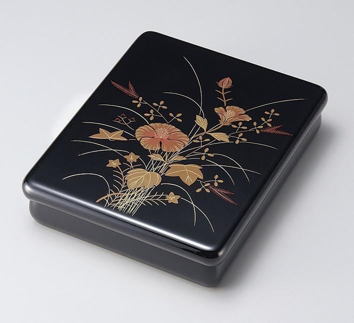 【送料無料】越前漆器 文庫 芙蓉 黒内梨地 912301(書類入れ 書類整理箱) (松屋漆器)