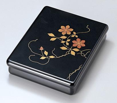 【送料無料】越前漆器 文庫 鉄線 光琳 912305(書類入れ 書類整理箱) (松屋漆器)