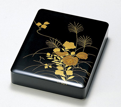 【送料無料】越前漆器 秋草 硯箱 912601(書類入れ 書類整理箱) (松屋漆器)