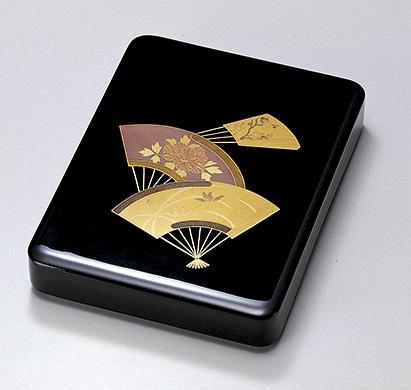 【送料無料】越前漆器 扇面 硯箱 912603(書類入れ 書類整理箱) (松屋漆器)