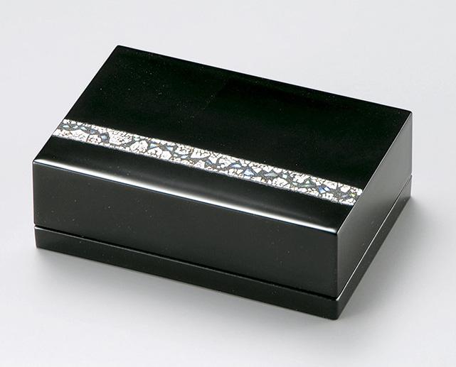 【送料無料】越前漆器 名刺箱 螺鈿 黒 911501 (名刺入れ 小物入れ) (松屋漆器)