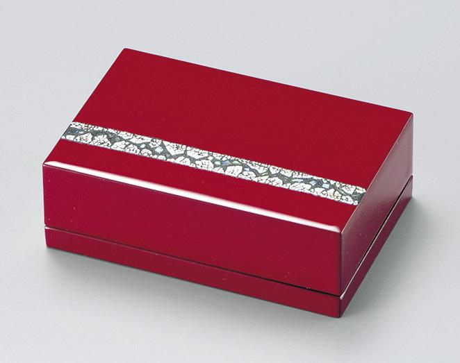 【送料無料】越前漆器 名刺箱 螺鈿 朱 911502 (名刺入れ 小物入れ) (松屋漆器)
