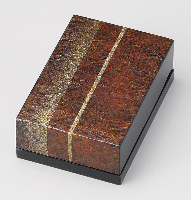 【送料無料】越前漆器 名刺箱 和紙貼り 聖火 黒 911504 (名刺入れ 小物入れ) (松屋漆器)