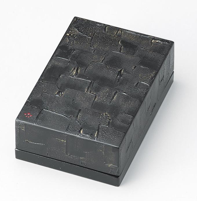 【送料無料】越前漆器 名刺箱 錆 漆重ね 黒 911505 (名刺入れ 小物入れ) (松屋漆器)