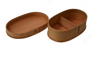 Akita Odate Kogeisha bending magewappa oval lunch Bento box (medium) 001-2540 ( Bento, lunch box, Bento box, and べんとうばこ, bending Cedar Lunchbox, Mage, wappa, men's, women's, Akita cedar, domestic production, made in Japan )