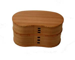 Akita Odate bentwood Kogeisha magewappa lunch はんごう lunch box 001-2530 ( Bento, lunch box, obento thank you box, Mage, wappa, men's, women's, Akita cedar, domestic production, made in Japan )
