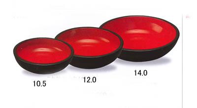 伝統工芸 紀州漆器 こね鉢 12.0寸 黒内朱(日本製 こね鉢 国産 こね鉢 盛鉢としても こね鉢 多用鉢としても こね鉢 寿司鉢としても こね鉢 パーティー用こね鉢)
