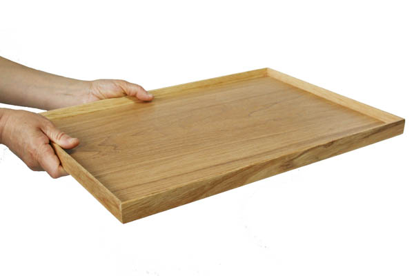 Longhorn 餐自然 45 厘米 (托盘 Bon 怀石料理禅木托盘垫咖啡厅北欧商业) 001-674sp [fs01gm] fs2gm