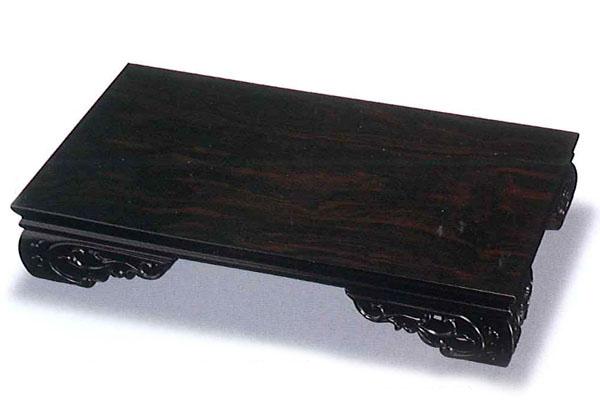 木製 花台 スカシ平台 黒壇調 18号 001-990(華台)