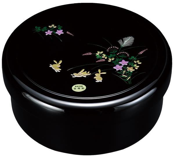 紀州漆器の上品に仕上げられています ギフトや記念品にも 茶びつ 茶櫃 黒 茶器 国産品 24405 店 8.5寸 京うさぎ