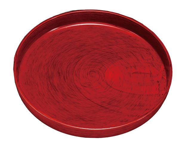紀州漆器で上品に仕上げられた丸盆 ギフトや記念品 海外の方への贈り物にも 紀州漆器 9.0丸盆 ご予約品 ノンスリップ 212011b 運び盆 トレー 美里 贈り物