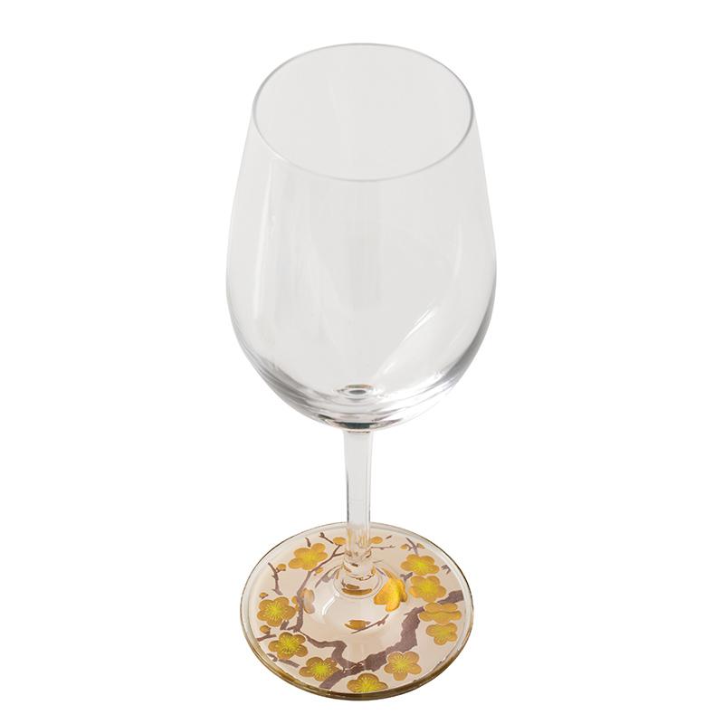 蒔絵 ワイングラス 白梅 (紙箱入り)