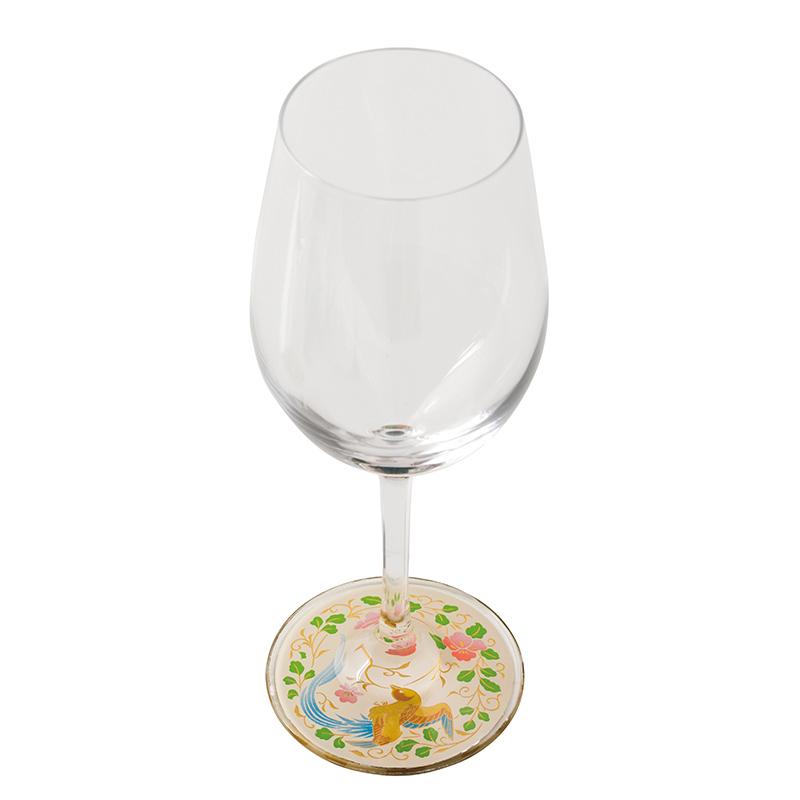 蒔絵 ワイングラス 瑞鳥(白) (紙箱入り)