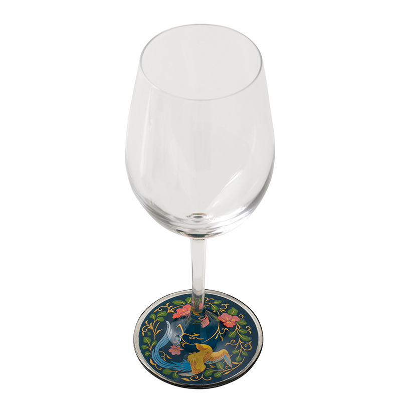 超特価激安 蒔絵 ワイングラス 瑞鳥(青) (紙箱入り), 結城市 b115692d