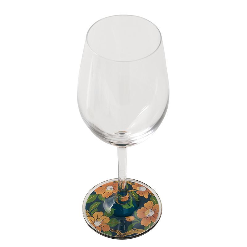 蒔絵 ワイングラス 寒椿 (紙箱入り)
