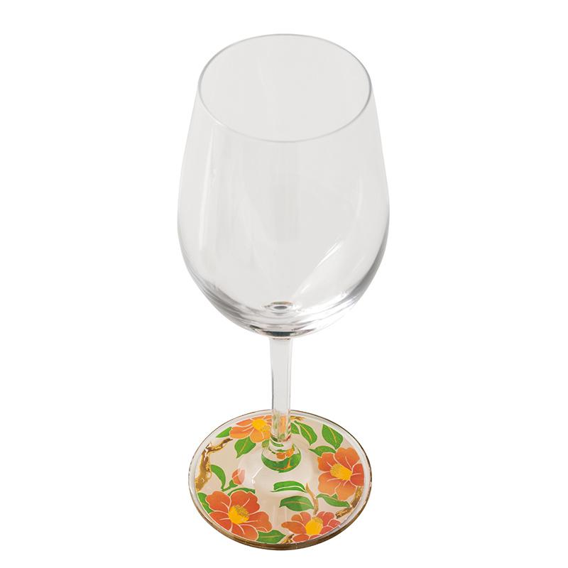 蒔絵 ワイングラス 雪椿 (紙箱入り)