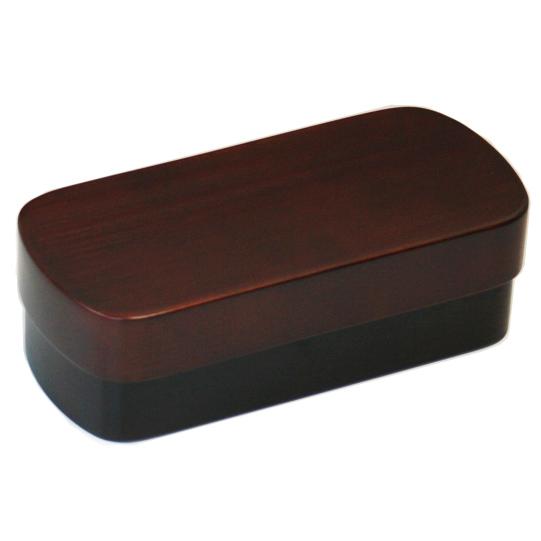 【送料無料】 紀州桧材 くりぬき弁当箱 typeS-4 ダークブラウン ナノコート 弁当箱 001-1463 (食洗機対応 木製 くり抜き お弁当箱 仕切付 ランチボックス 男子 女子 子供 キッズ)