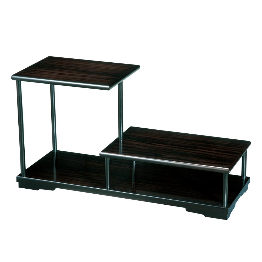 木製 飾り棚 黒壇調 二段 001-982(華台 花台)