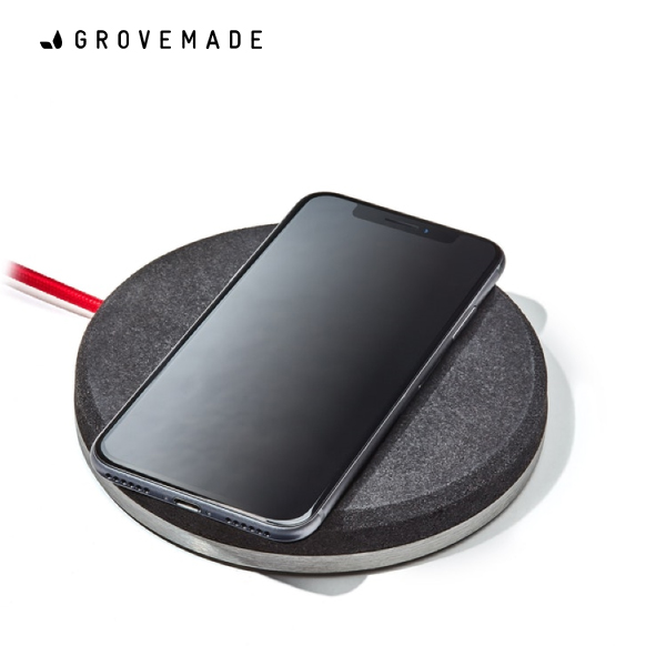 GROVEMADE Wireless Charging Pad Dark グローブメイド ワイヤレス充電器(iPhoneX,iPhone8/8Plus対応)おしゃれ クール かっこいい Made in USA ポートランド 男性 メンズ 誕生日 プレゼント ギフト